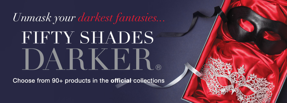 Lovehoney Fifty Shades Darker Mask banner