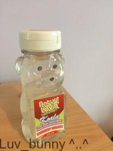 Koala themed plastic bottle containing Nature Lovin' Strawberry Margerita flavored lubricant