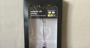 Spartacus Tweezer clit clamp with purple beads