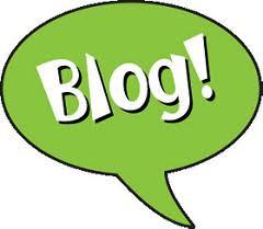 Blog! inside a green speech bubble