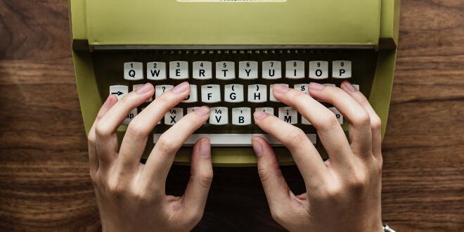typist working on their business