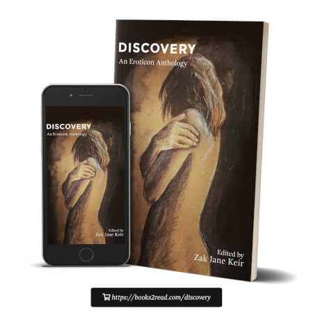 Discovery - An Eroticon Anthology cover art of a pastel figure