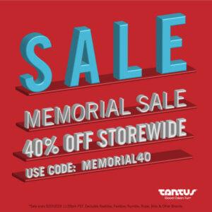 Tantus Memorial Sale Banner