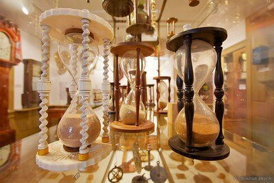 hourglasses in museum