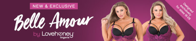 Belle Amour Plus Size lingerie by Lovehoney