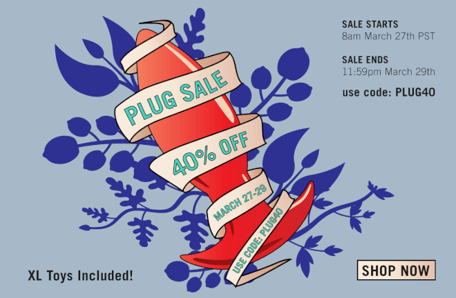 Tantus Plug sale 40% off