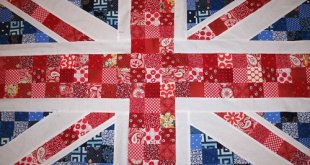 Union flag patchwork quilt
