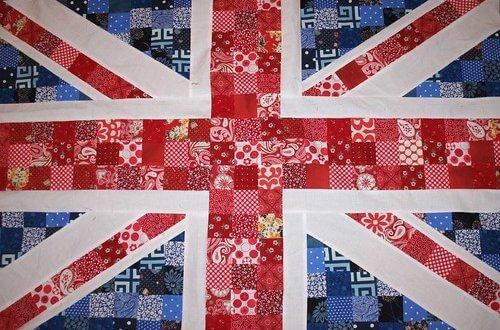 Union flag patchwork quilt