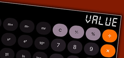 Value typed on calculator