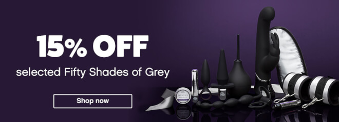 15% off selected Fifty Shades of Grey