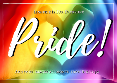 Lingerie is For Everyone Pride badge