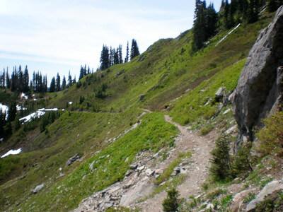 Ridge path hike