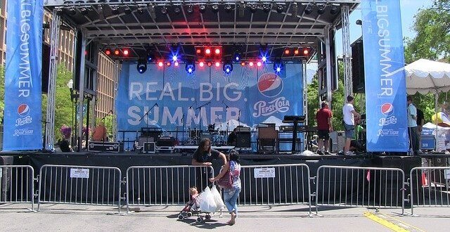 stage set up for summer festivals