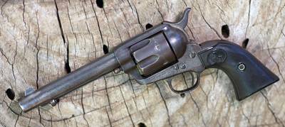 Aged .45 colt revolver