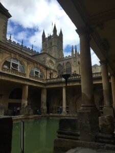 View of Bath Abbey from Roman Baths