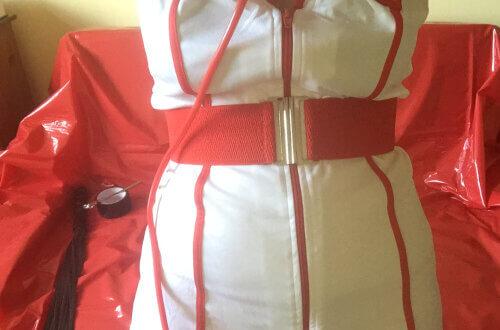 Luv Bunny dressed as a Naughty Nurse